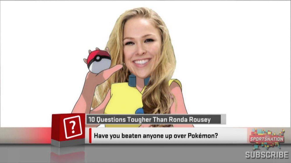Rousey is a big Pokemon fan
