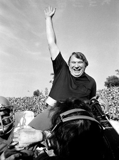 john madden is carried off the field