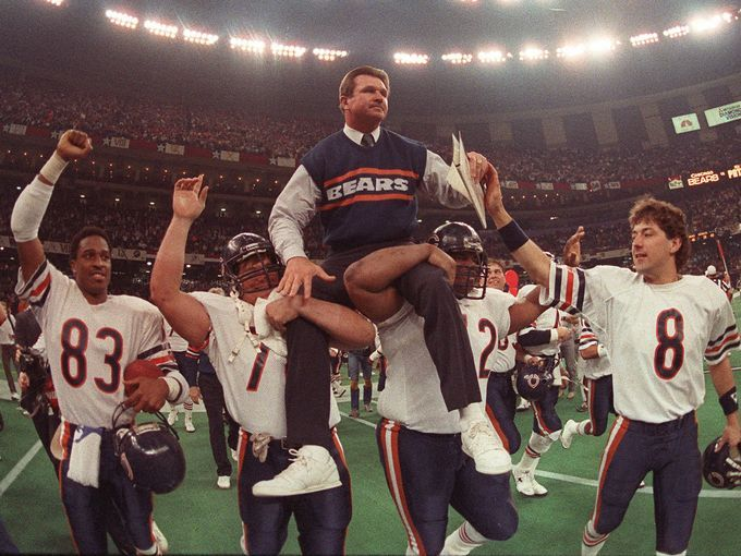 ditka is carried off the field by the best defense ever