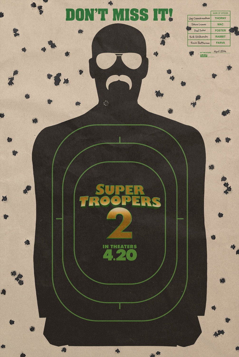 30 super troopers 2 poster