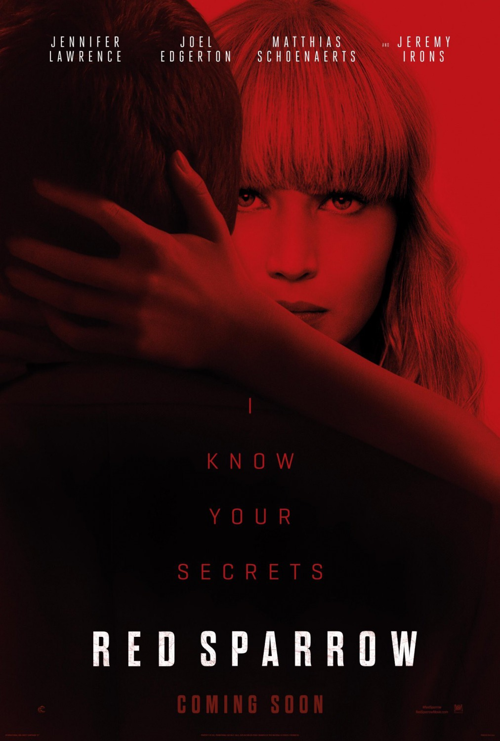 4 red sparrow movie poster