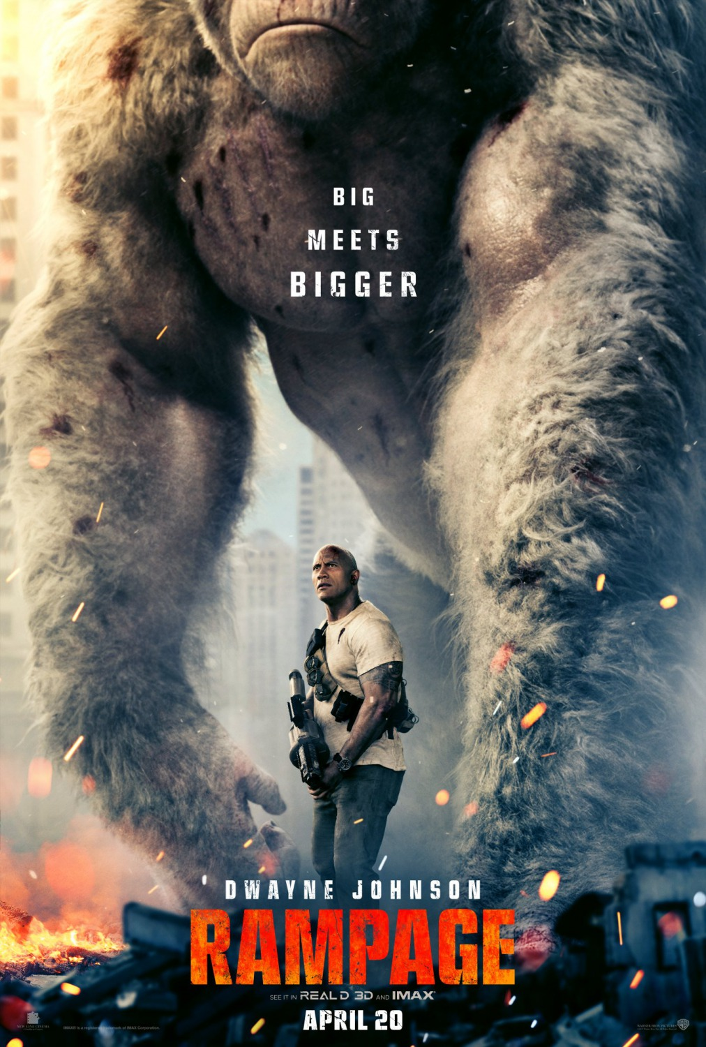 7 rampage movie poster