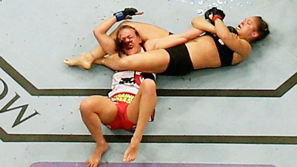 Rousey is known for her ground fighting