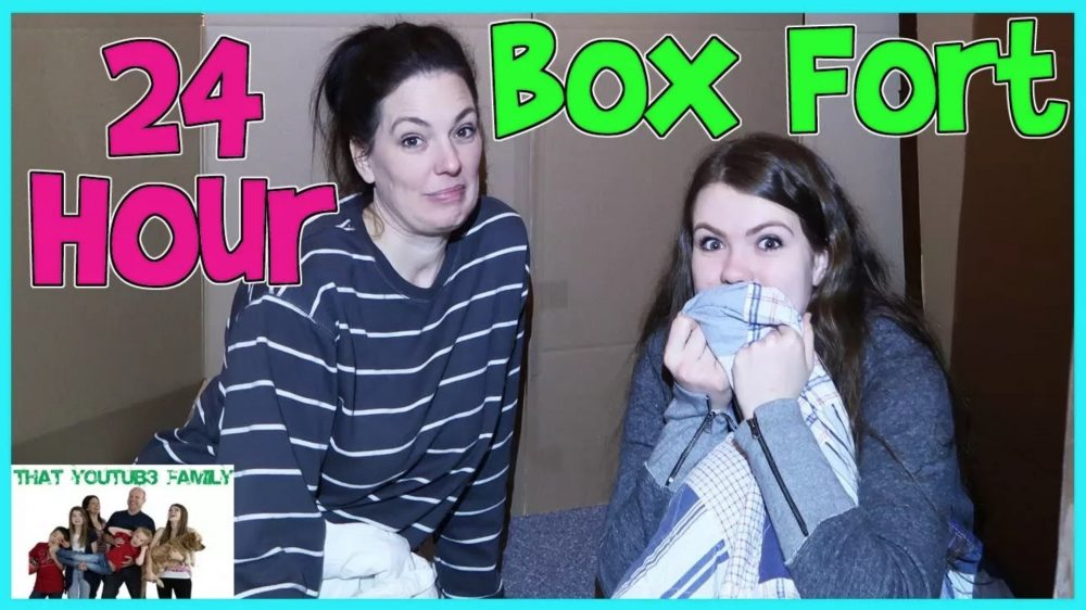 24 hour box fort - that youtub3 family