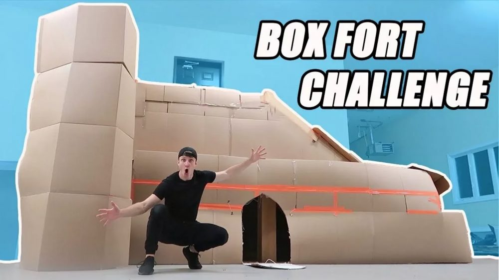 box fort mansion challenge