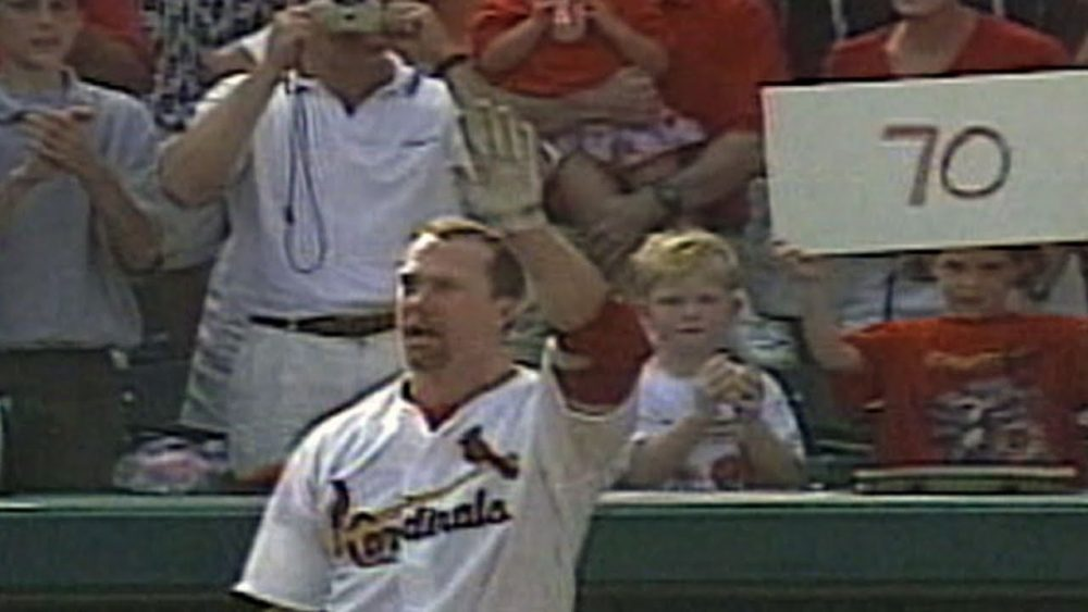 Sosa and McGwire competed for the home run record.