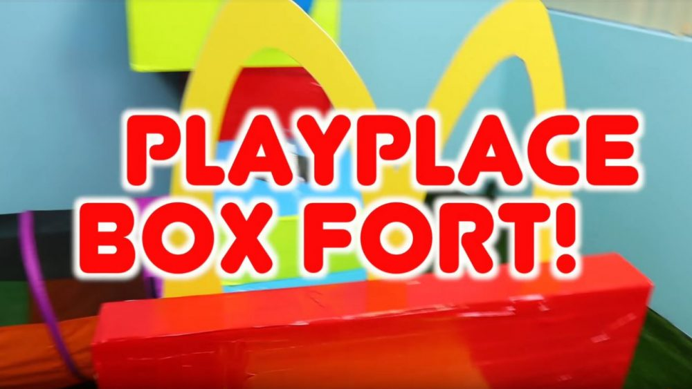 mcdonald's playplace themed box fort