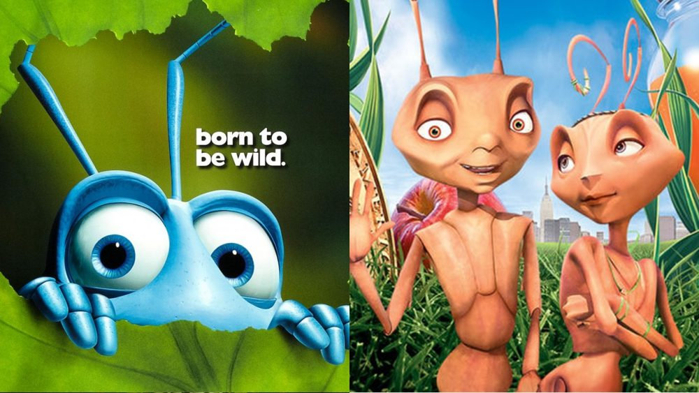 two movies a bugs life antz