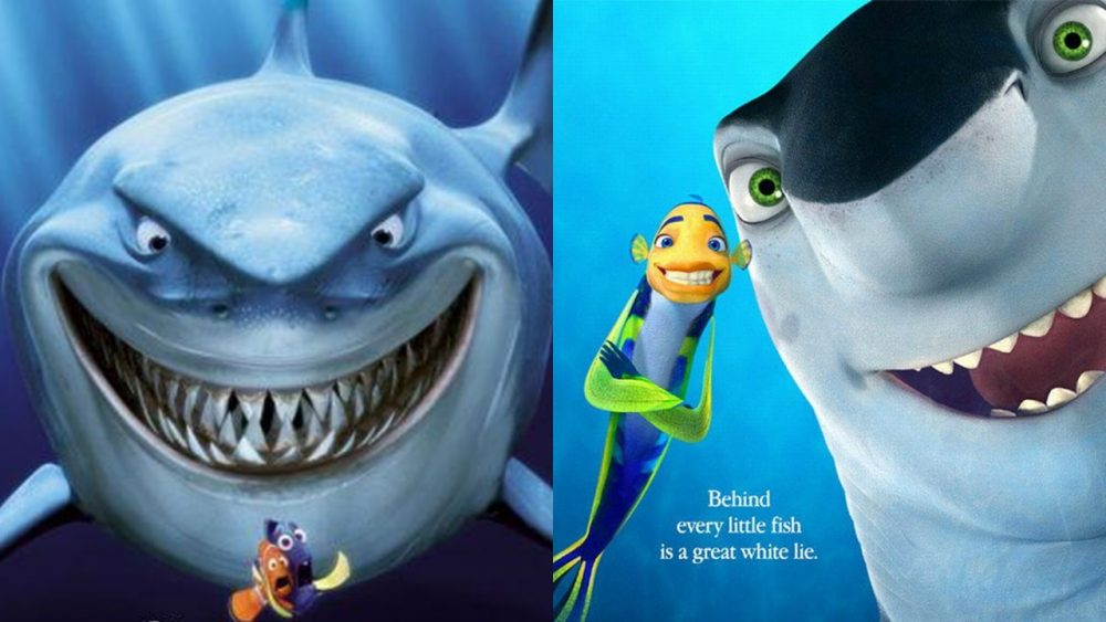 two movies finding nemo shark tale