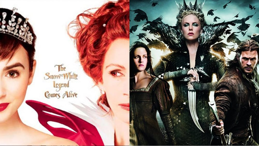 two movies mirror mirror snow white and the huntsman