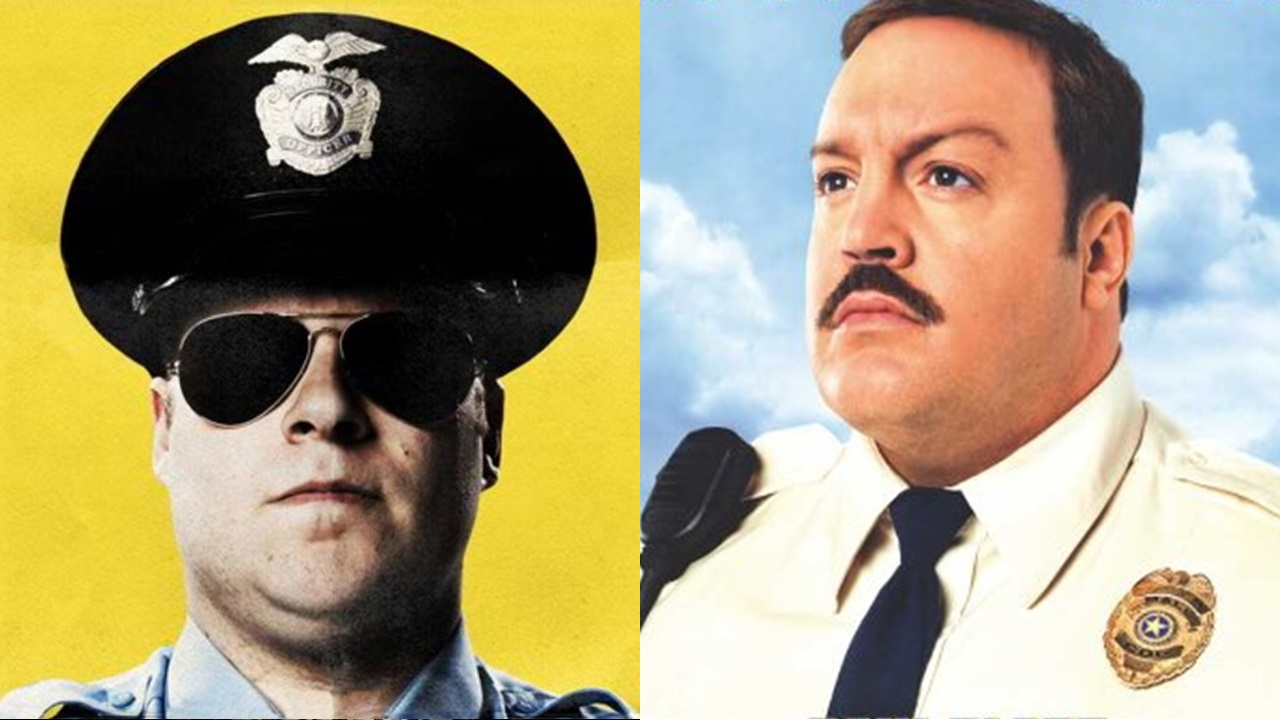 two movies observe and report paul blart