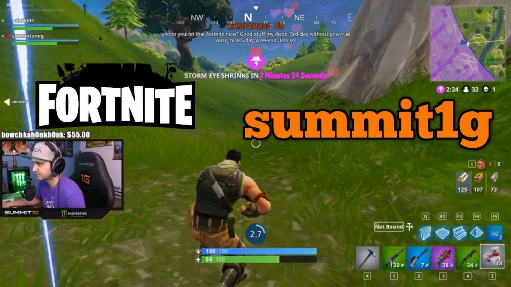 summit1g top 10 fortnite players online
