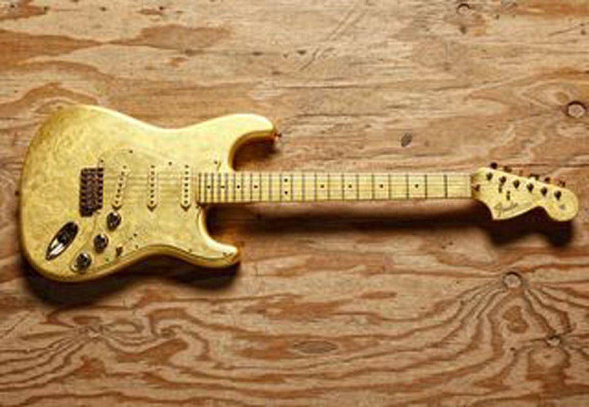 8. Prince's Custom Gold-Leaf Fender Stratocaster