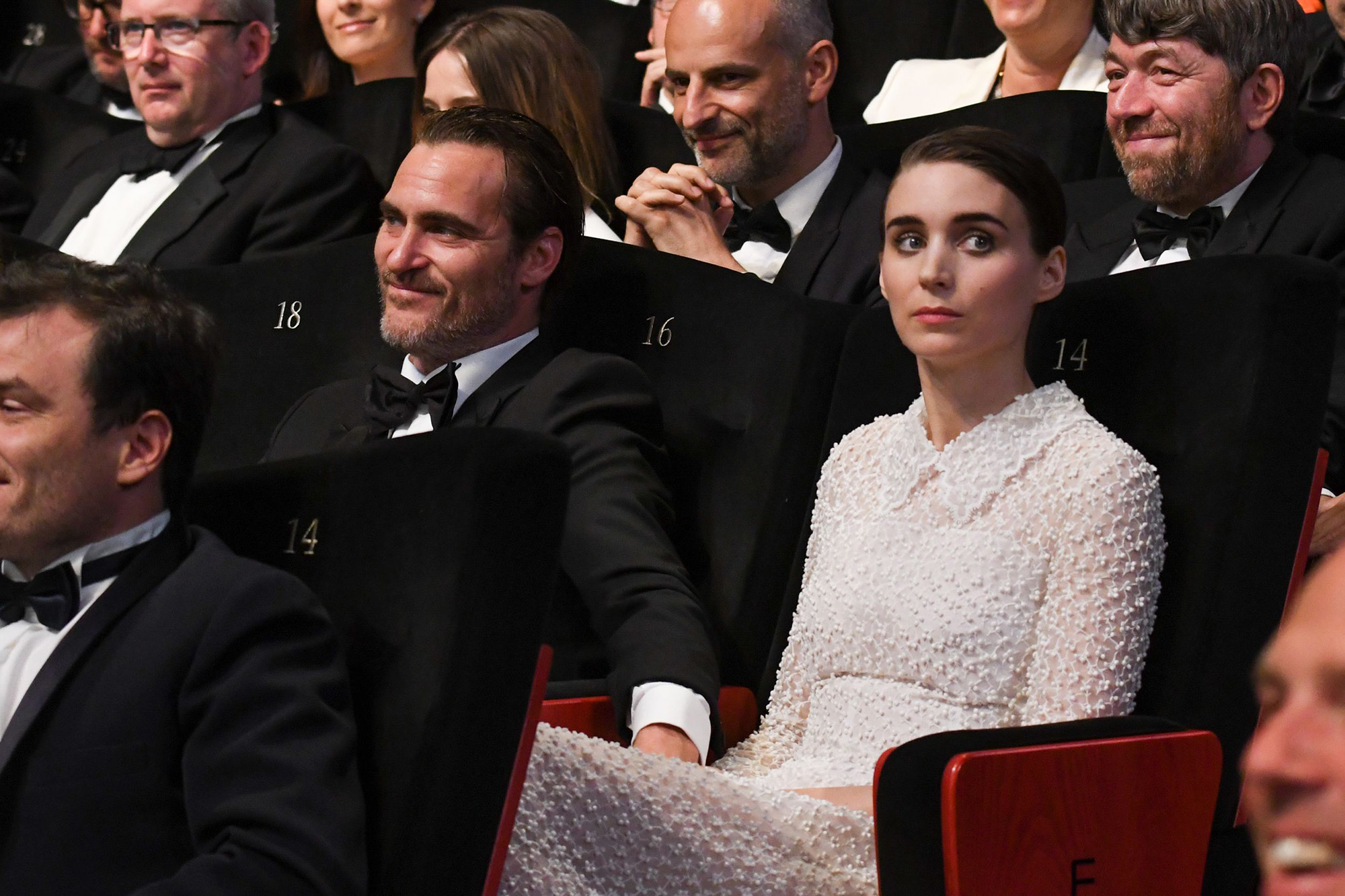Celebrities attend the closing ceremony of the 70th Cannes Film Festival