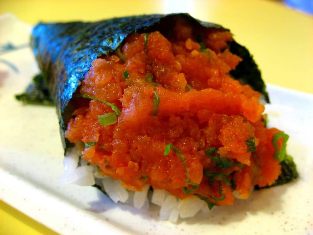 Man vs Food spicy tuna handroll