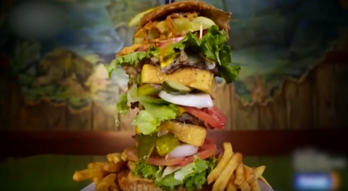 Man vs Food surf n turf challenge