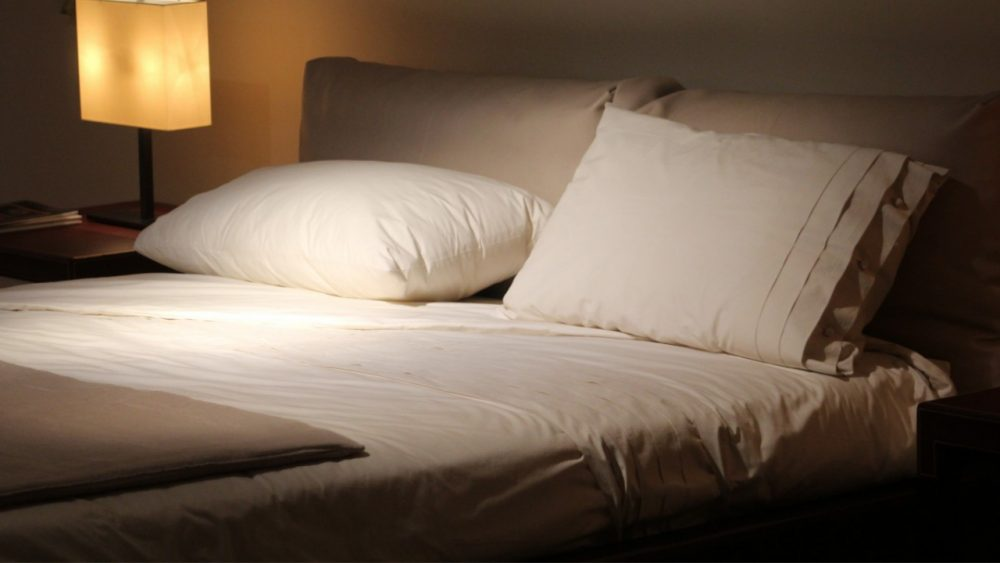 clean sheets on bed