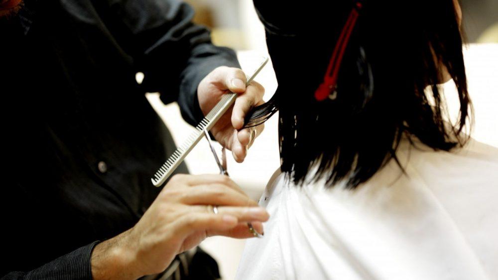 person getting a haircut