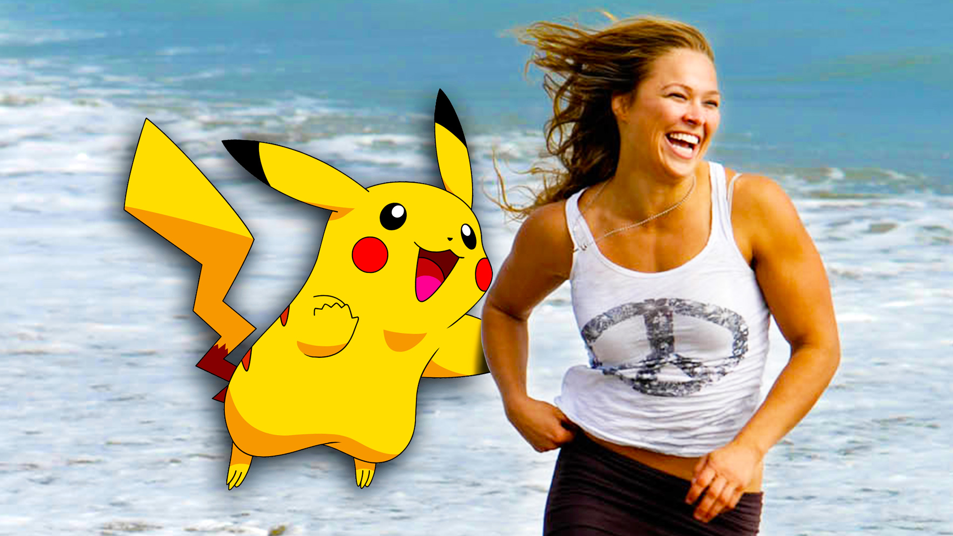 Ronda Rousey and Pikachu