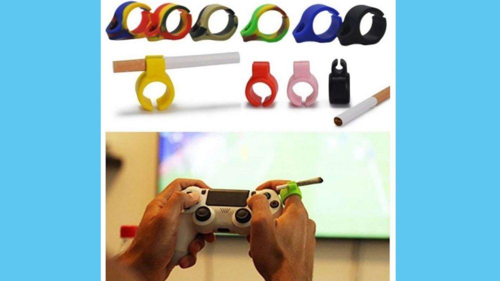 silicone cigarette finger holder