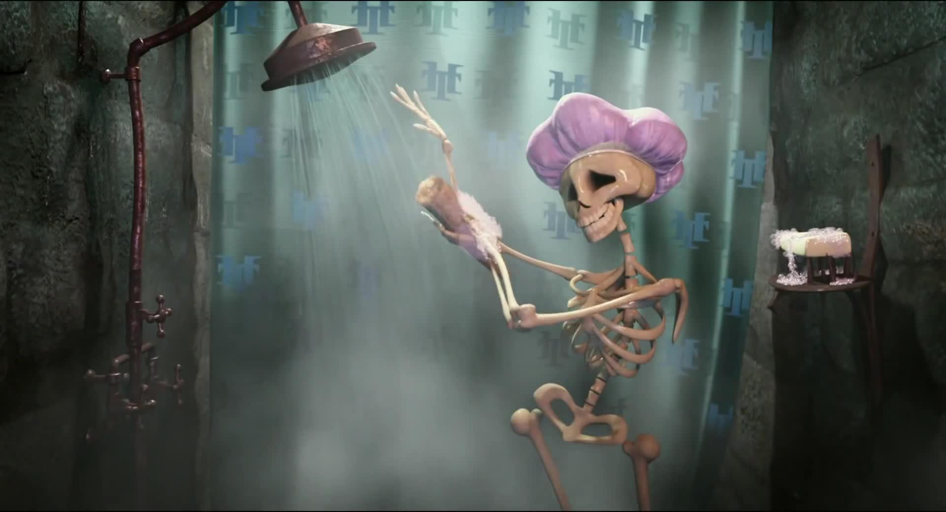 Skeleton shower