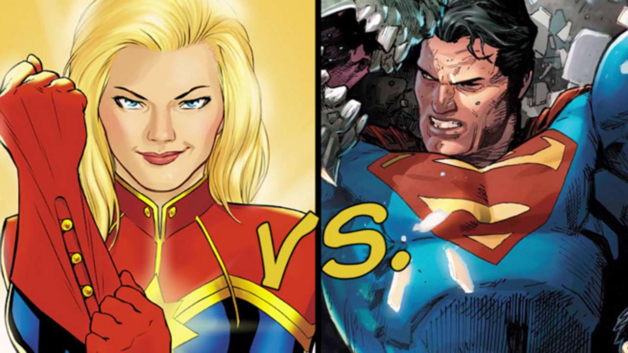 captain marvel superman with boobs