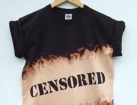 censor shirt