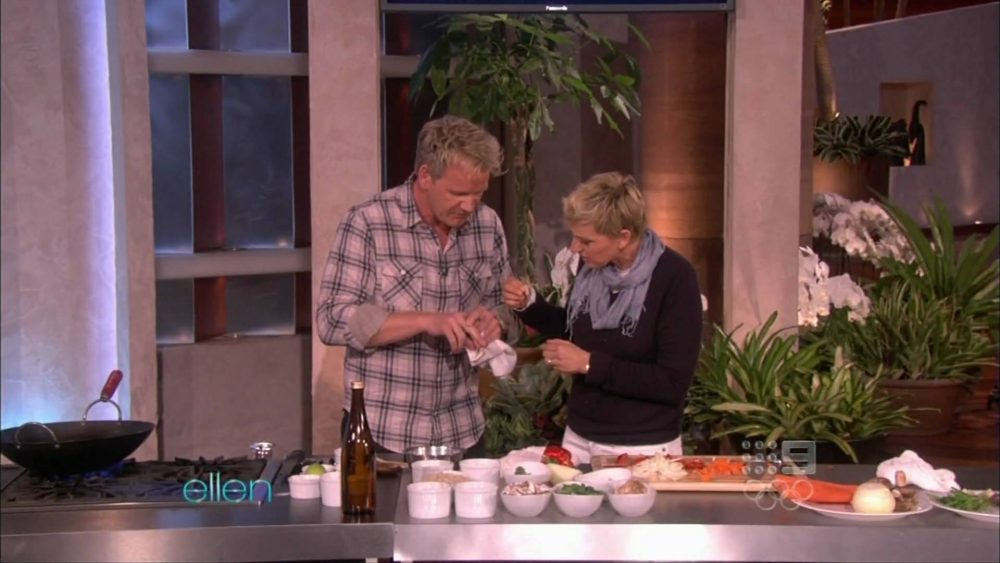 ramsay cuts himself on ellen