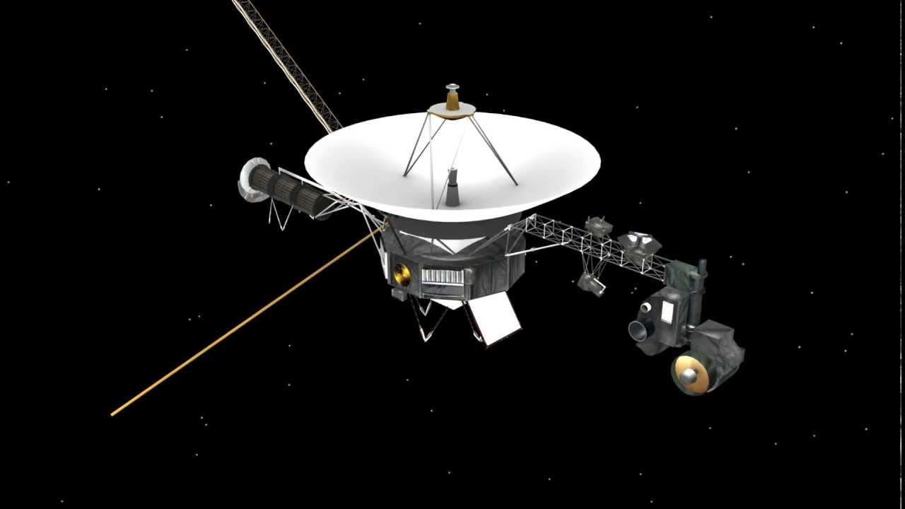 The Voyager probes are exploring the galaxy.