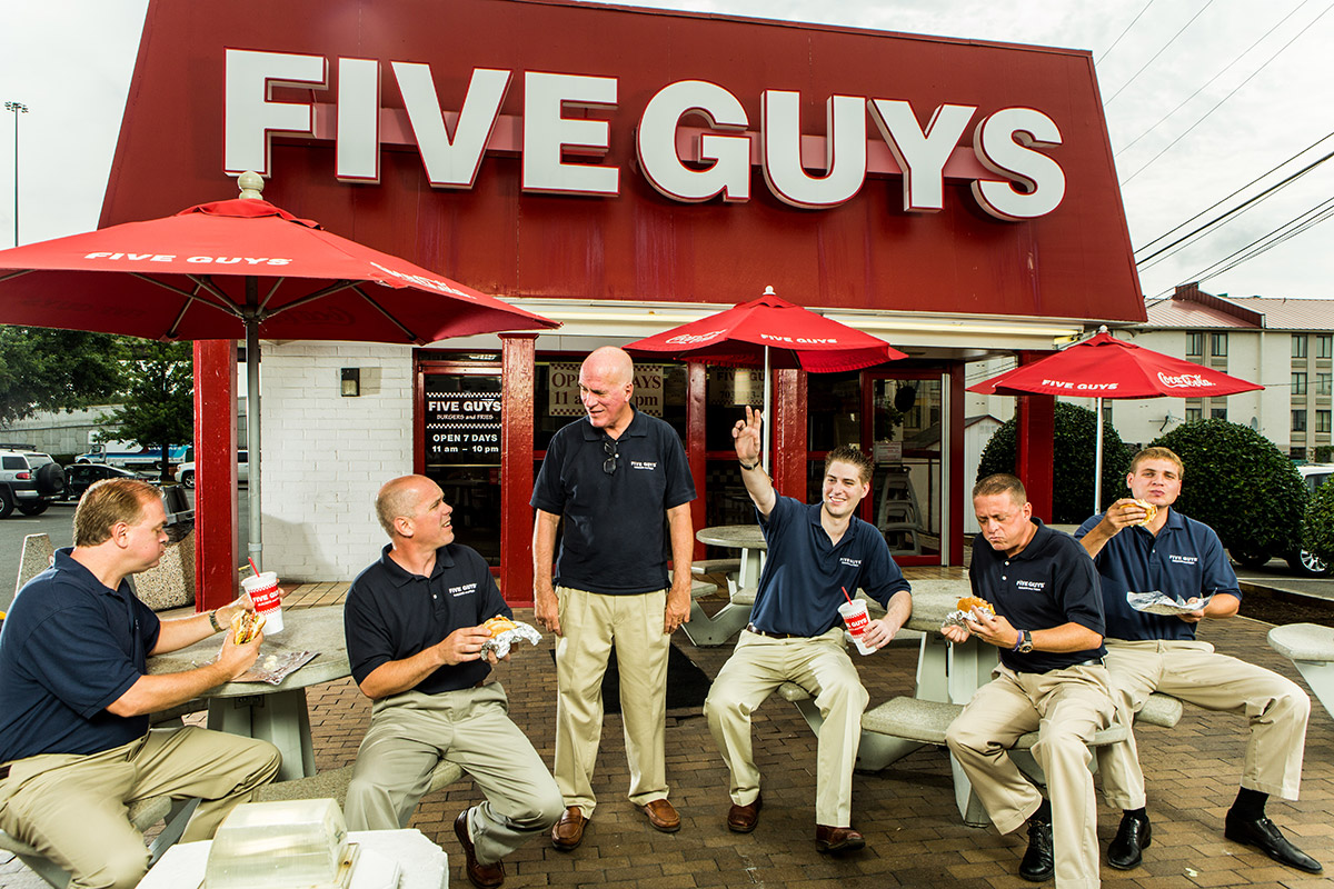 Five-guys-founder-with-his-five-sons