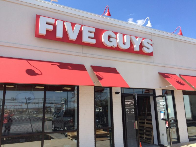 Five guys storefront