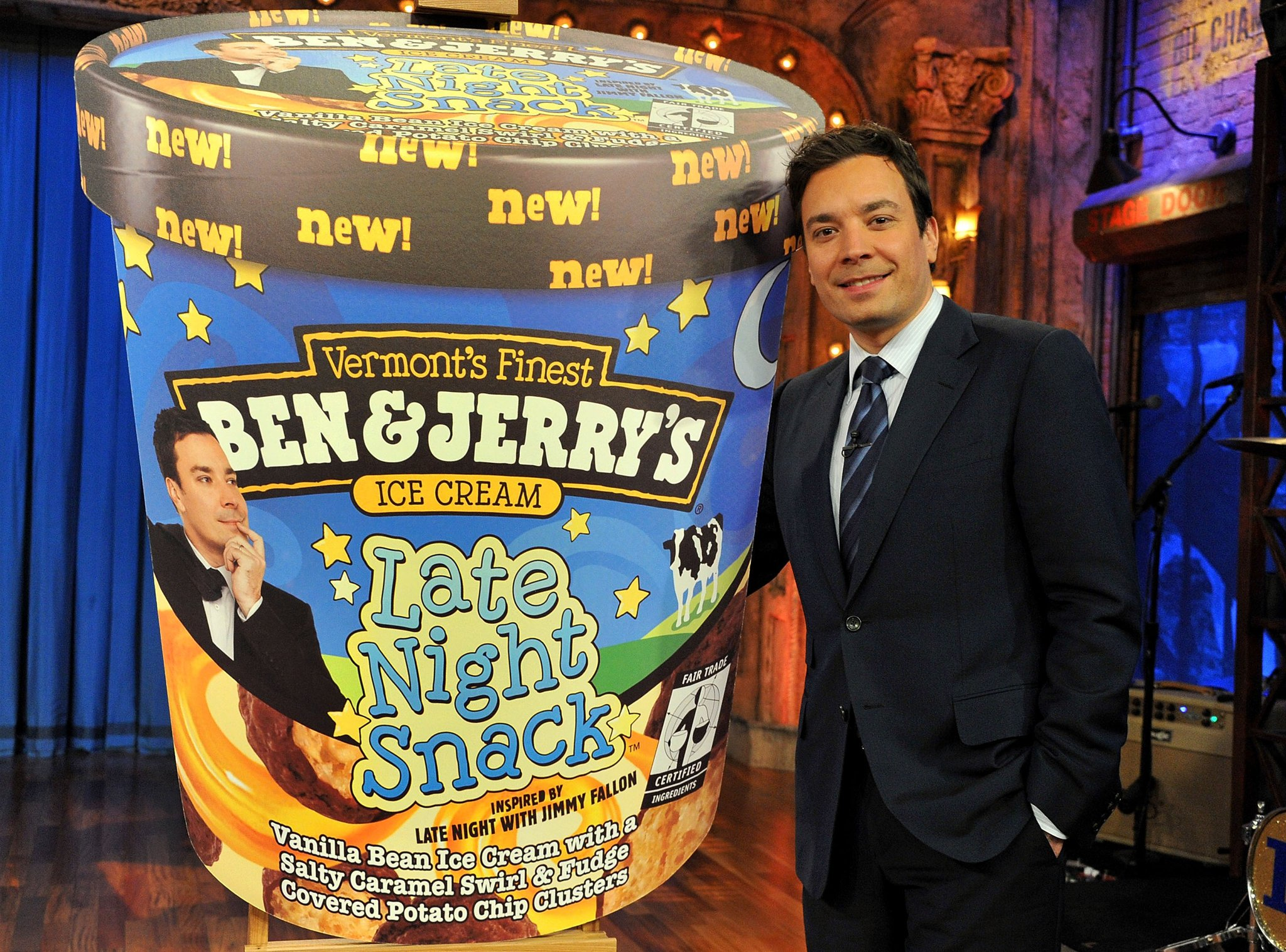 Jimmy Fallon Introduces Late Night Snack Ben & Jerry's Flavor