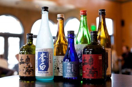 Assortment of Japanese rice wine