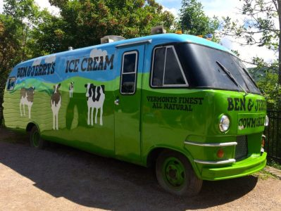 Ben & Jerry's Cowmobile on the prowl