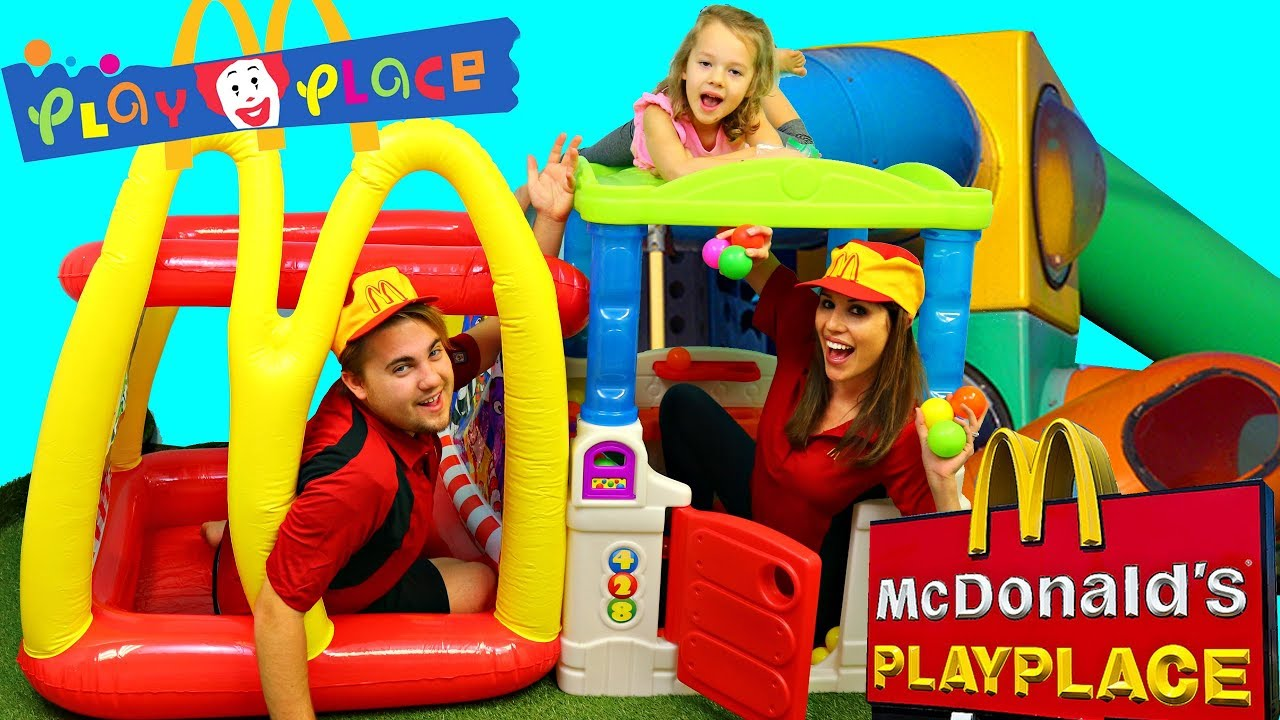 McDonald's offers playgrounds at many of its locations.
