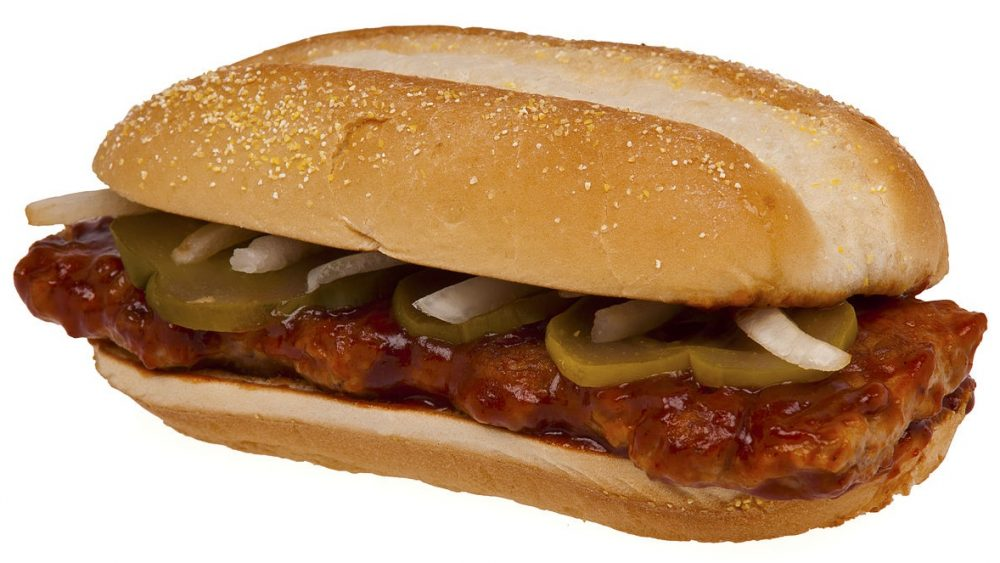 the McRib Sandwich from McDonald's