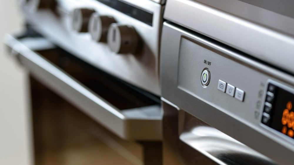 close up of an oven