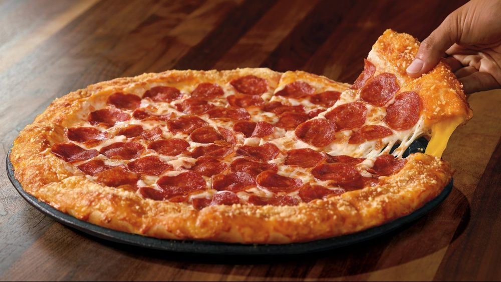 stuffed crust pizza from pizza hut
