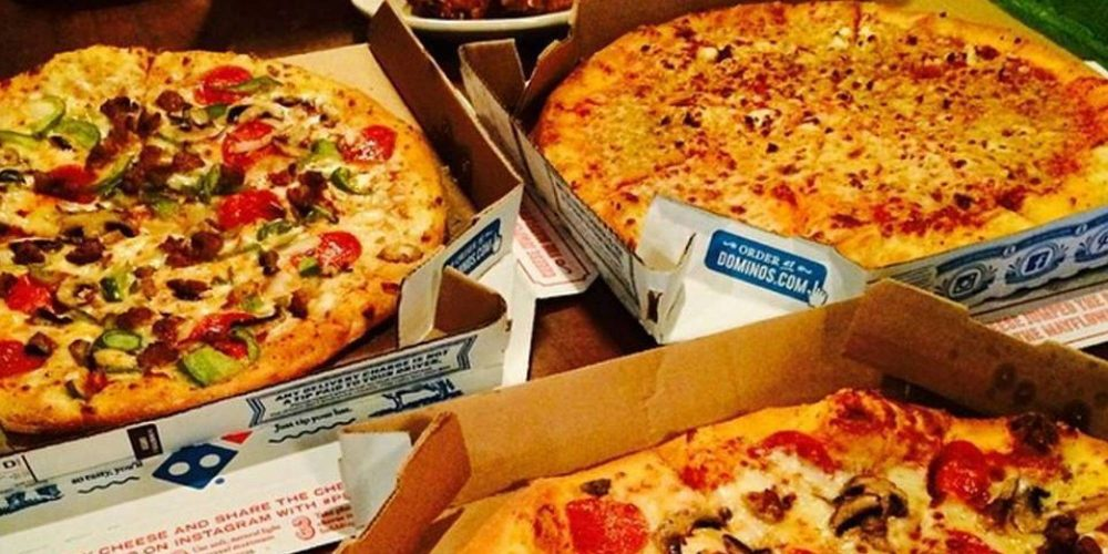 pizzas from Dominos