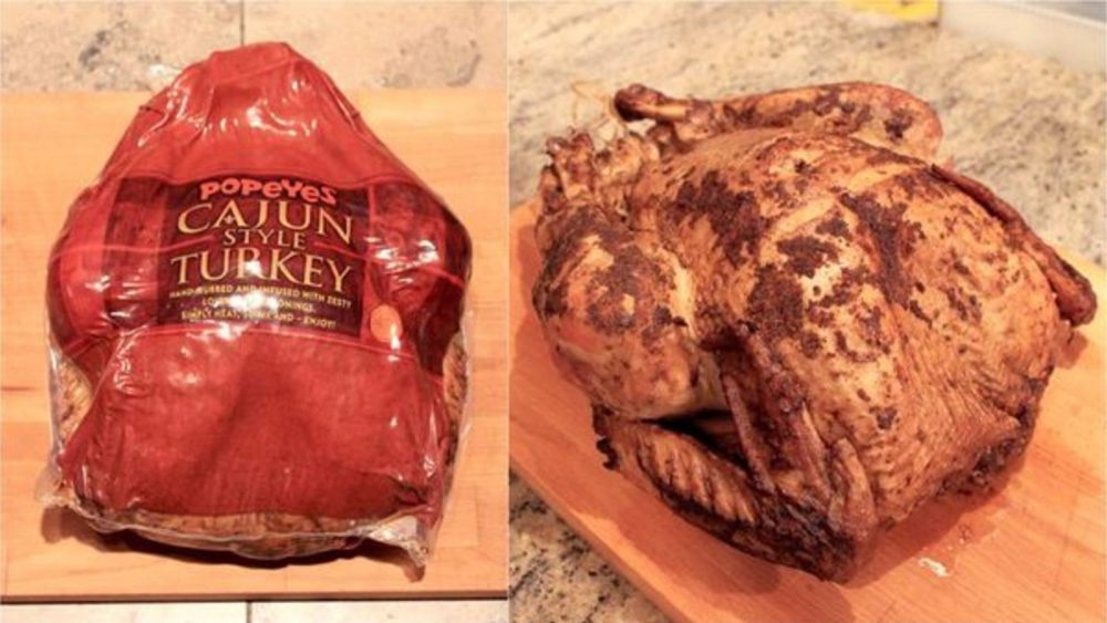 Popeyes cajun spiced turkey