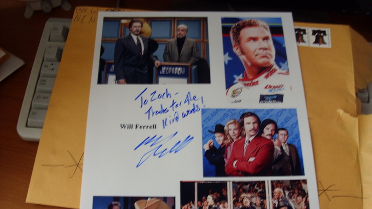 will ferrell autograph