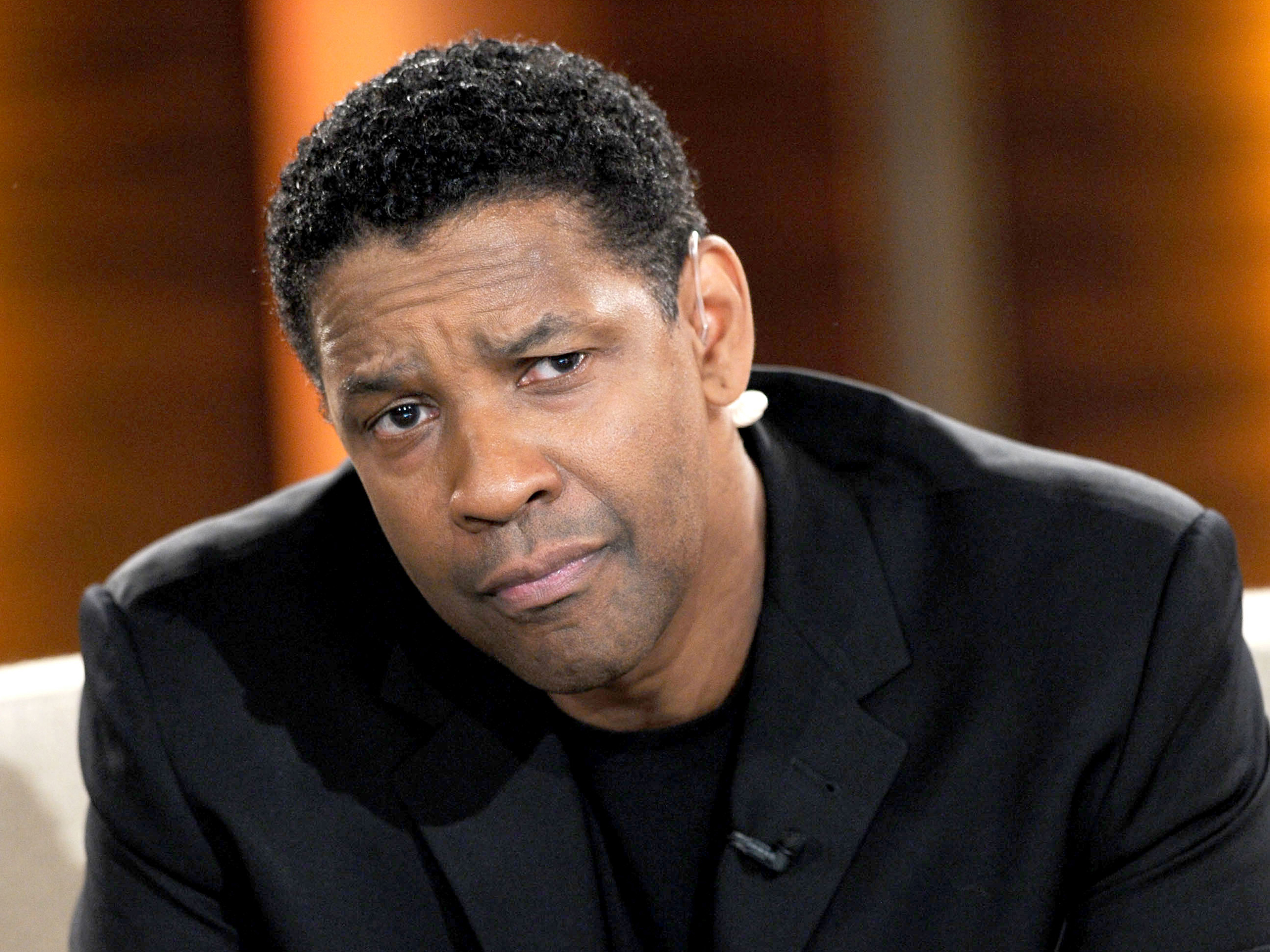 Denzel Washington looking upset