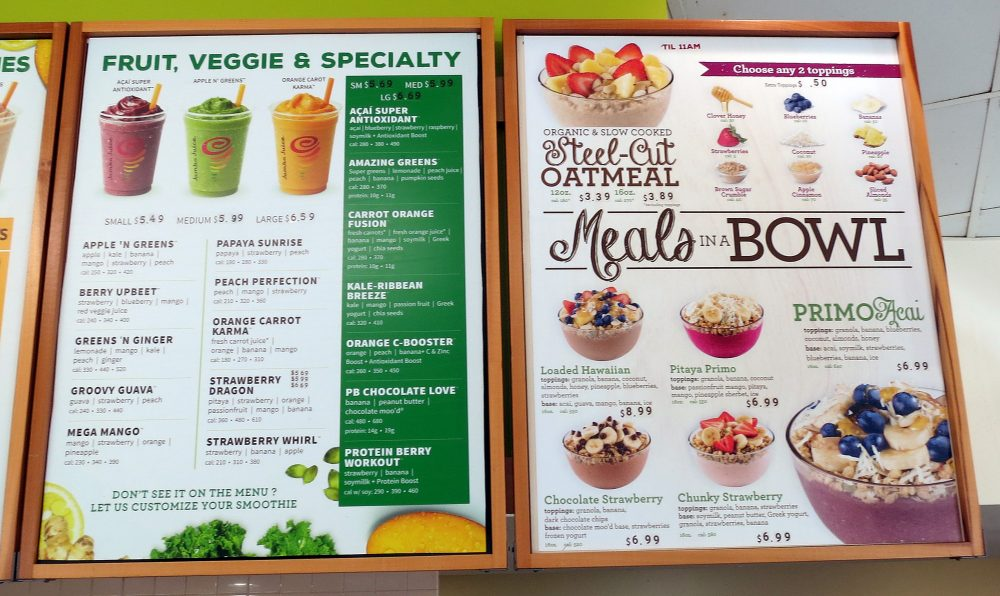 What's on the Jamba Juice menu