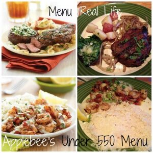 Applebee's low-calorie dishes