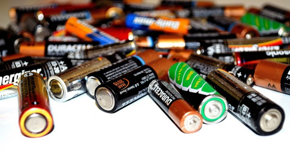 pile of different brands of batteries