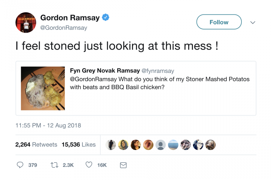 Gordon Ramsay twitter insult