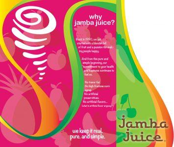 Jamba Juice brochure