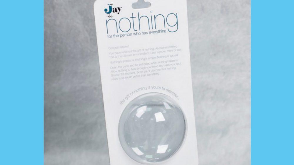 novelty gift of nothing