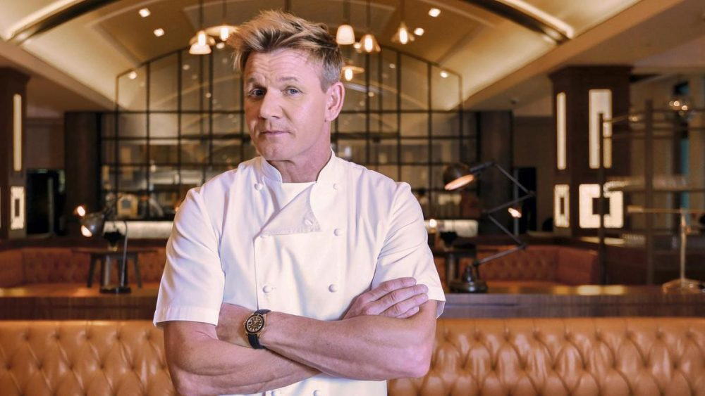 Chef Ramsay in restaurant