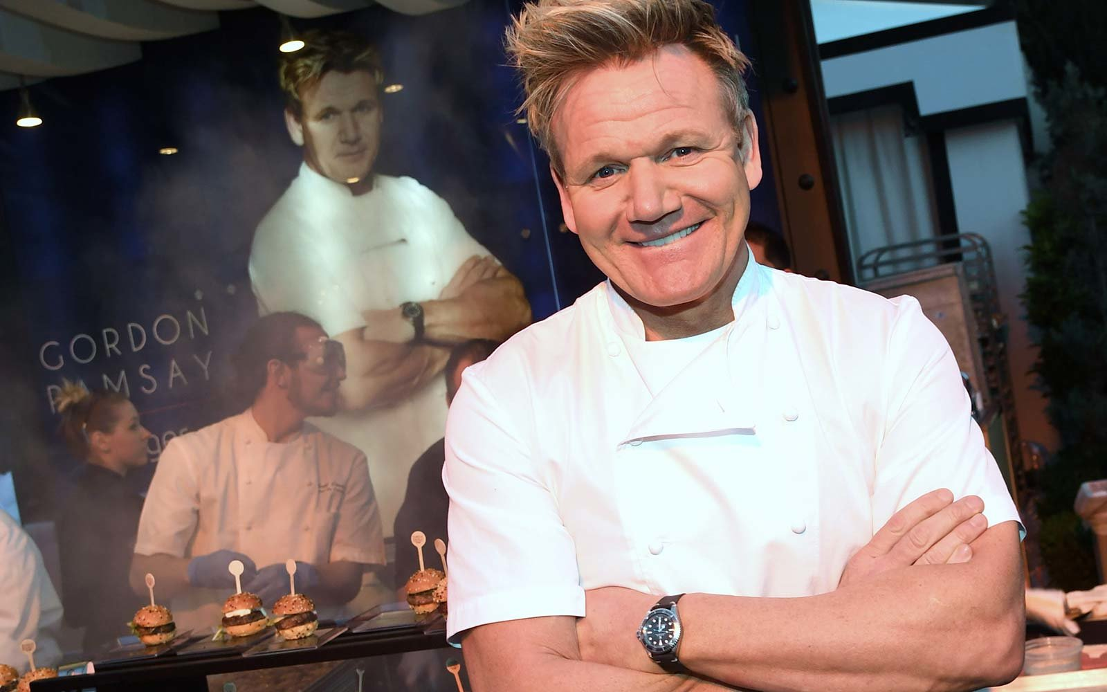 Chef Ramsay smiling